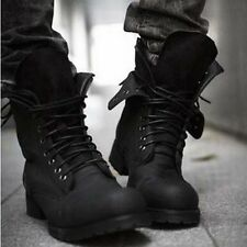 fashionable Men's short shoes Retro Combat Winter England-style Boots Сапоги