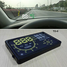Multifunctional Car Head Up Display Warn System HUD TD-6 OBD II For Auto Truck
