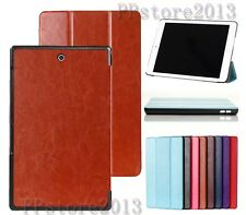 AUTO Wake/Sleep Folio Fold Leather Case Cover For Sony Xperia Z3 Tablet Compact