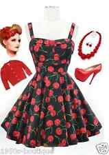 Vintage 1950s 60s Swing Rockabilly Black / Red Retro Evening Party Dress N80