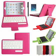 Removable Bluetooth Keyboard Leather Folio Case Cover For  Apple iPad MINI 1 2 3