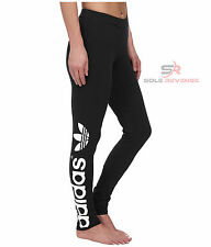 New Adidas Originals Black Big TREFOIL LEGGINGS Premium Basic PB Womens M30671