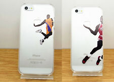 New Basketball Player Pattern Transparent Hard PC Back Case Cover Fr iPhone 5/5s