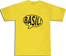 Basil Fawlty Towers Speech Bubble T-SHIRT ALL SIZES # Yellow