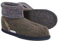 WESENJAK Boiled Wool Slippers ~ AUSTRIA Men~Women TAUPE/BROWN CHOOSE YOUR SIZE
