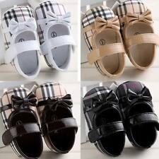 HOT New Cute Bow Infant Toddler Shoes Baby Girls Soft Sole Crib Shoes 0-18months