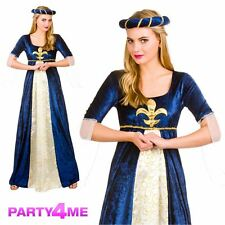Medieval Maiden Ladies Outfit Fancy Dress Costume Maid Marion Tudor Juliet Royal