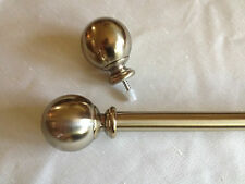 Brass Curtain Rod with Ball Finials!!  Multiple Sizes!! FREE SHIPPING!!