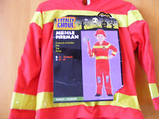 NEW TODDLER BOYS MUSCLE FIREMAN  COSTUME  2T-4T