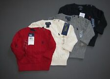 Ralph Lauren Polo Baby Boy Cable Knit Sweater Pullover crewneck 24M 12M 9M  NWT