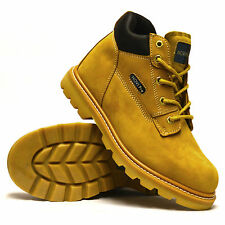 Mens Gents New Leather Walking Hiking Trail Work Winter Ankle Boots Shoes Size