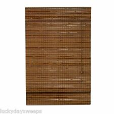 Light Filtering Natural Bamboo Roman Shades Montana Pecan Finish 27, 31, 35""