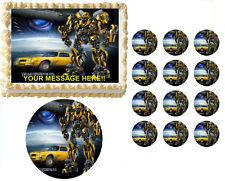 Transformers BUMBLEBEE Characters Edible Cake Topper Frosting Sheet - All Sizes!