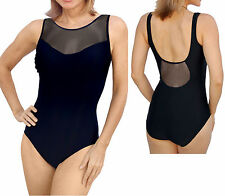 Carol Wior Swimsuit High Neck Mesh Top Tank with Miracle Slim Control NWT 101497