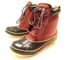 WOMENS DUCK BOOTS LEATHER THERMOLITE INSULATED WATERPROOF HIKING SHOES~SIZE 8.5