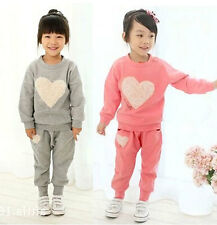 Adorable Kids Toddler Clothes Girls Baby Sportswear Tops+Trousers Suit Sz12M-5Y