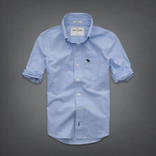 NWT Abercrombie Kids Boys Classic Solid Shirt Blue Small