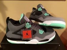 Air Jordan Retro 4 IV Green Glow 308497-033 Grey Cement NEW DS
