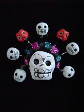 Frida Kahlo Skull Ornament Day of the Dead Mexican Folk Art