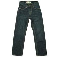 Levi's 505 Straight Fit, Straight Leg Denim Blue Jeans-Boys Size12 or 14-NWT-$38