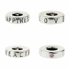 925 Sterling Silver Charm happiness/health/love Fit 3mm European Bracelet