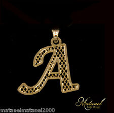 Stuning 24k Gold Plated Exclusive Initial Pendant Personalized Charm A-Z