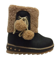Girls Infant/Toddler Winter Boots Black Size EU 21 to 26 Size UK 4.5 to 8.5