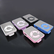 Mini Portable Mirror Clip Metal USB MP3 Music Player UP TO 8GB SD TF Card