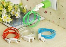 LED USB Data Sync Light-up Charger Cable Glow in The Dark Line for iphone GTD