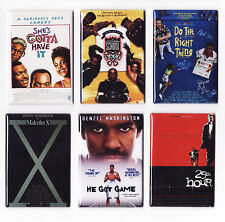 SPIKE LEE MOVIE POSTER MAGNETS (do the right thing school daze he got game print