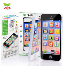 YPhone 1:1 Iphone Toy Mobile Phone Educational Gift for Kids Children Black