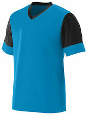 Augusta Sportswear Men's V Neck Short Sleeve Lightning Jersey T-Shirt. 1600