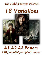 The Hobbit Movie Posters A1 A2 A3 190gsm satin gloss photo paper Free UK P&P
