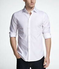 Express Extra Slim Fit 1MX Button Down Shirt Long Sleeve White Size XS S M L XL