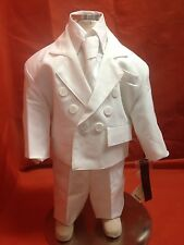 Baby Boy Christening Baptism WHITE Suit/4 pcs outfit/Sizes S to 2T  SALE! SALE!