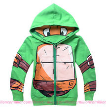 New Kids Boys Clothes Teenage Mutant Ninja Turtles Hoodies Jacket Coat Outerwear