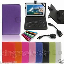 """Keyboard Case Cover+Gift For 10.1"""" DigiLand DL1010Q Android Tablet WN6"""