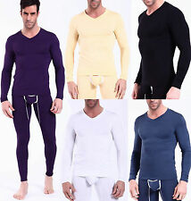 Men's HEAVYWEIGHT Thermal Long Sleeve Top Shirt Underwear Waffle color size