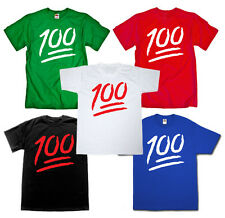 Keep It 1 Hundred Street Hunnid100 HIPHOP Music Emoji funny T-shirt