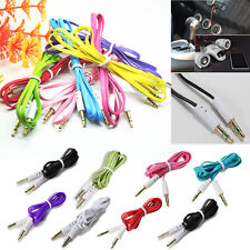 New 3.5mm AUX Male to Male Stereo Audio Flat Car Cable MobilePhones PC iPod MP4