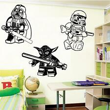 LARGE LEGO STAR WARS DARTH VADER STORMTROOPER YODA WALL ART BEDROOM  STICKER