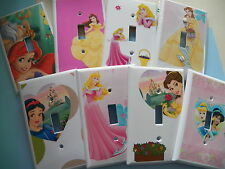 DISNEY PRINCESS - KIDS ROOM LIGHT & SWITCHPLATE COVERS - NEW