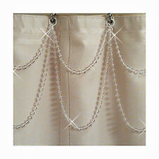 Double Swag....Pearl....Shower Curtain Bling or Tub/Shower Header Bling