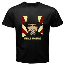 New MERLE HAGGARD Country Music Legend Classic Men's Black T-Shirt Size S-3XL