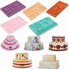 Hot Lot Styles Silicone Fondant Cake Embossing Gum Paste Decorating Baking Mold