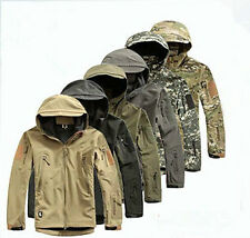 Men Outdoor Jacket Waterproof Coat Airsoft Military Hoodie Hunting TAD Shell