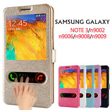 PU Leather Window-View Smart Flip Case Cover for Samsung Galaxy Note3 N900 N9002