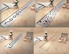 Stainless Steel SHOWER WETROOM DRAIN Drainage 60-100cm complete NORDIC Tec