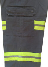 Enhanced (Hi Vis) Visibility Work Cargo Pants (Reflective) by Red Kap (Charcoal)