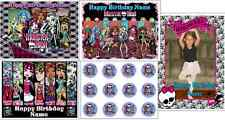 EDIBLE CAKE IMAGE MONSTER HIGH CUSTOM ICING SHEET BIRTHDAY PARTY TOPPER CUPCAKES